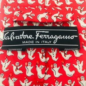 Salvatore Ferragamo Silk Tie: Halloween Ghosts